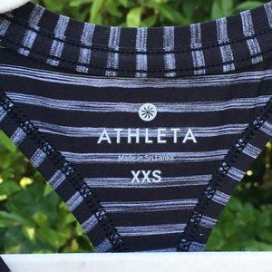 Athleta exercise shirt athletic tank, black/gray